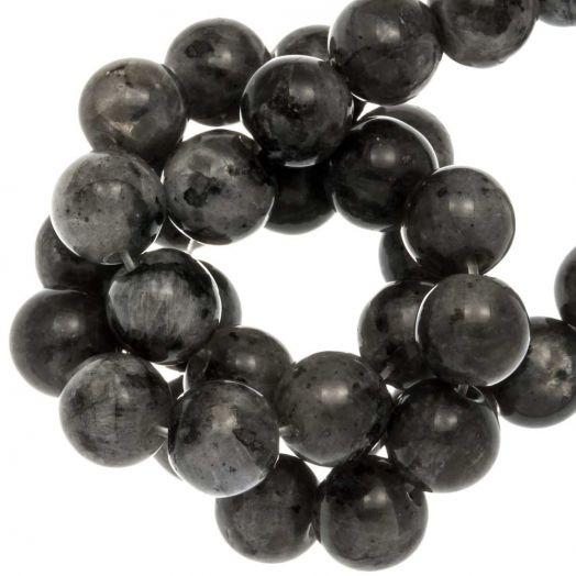 Labradorite Perlen (8 mm) Dark Grey (46 Stück)