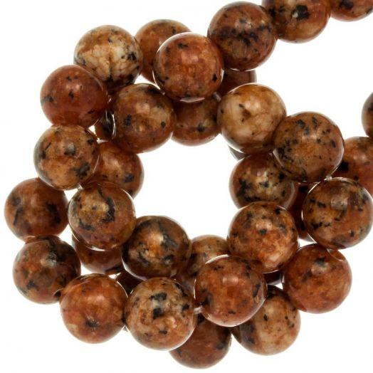 Labradorite Perlen (8 mm) Sienna (46 Stück)