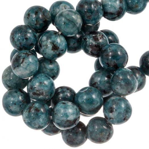 Labradorite Perlen (8 mm) Steel Blue (46 Stück)