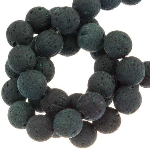 Lava Perlen (8 mm) Dark Green (50 Stück)