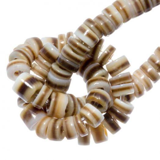 Muschelperlen (2 - 3 mm) Voluta Shell (150 Stück)
