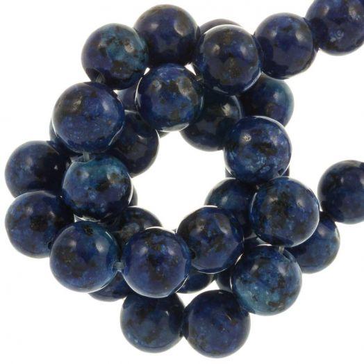 Labradorite Perlen (8 mm) Royal Blue (46 Stück)
