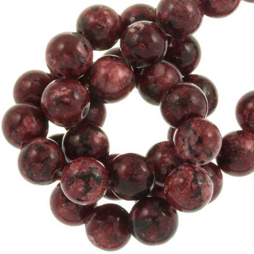 Labradorite Perlen (8 mm) Dark Red (46 Stück)