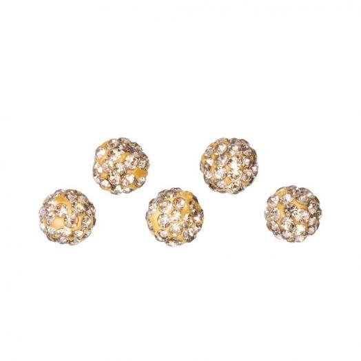 Shamballa Perlen (4 mm) Topaz (5 Stück)