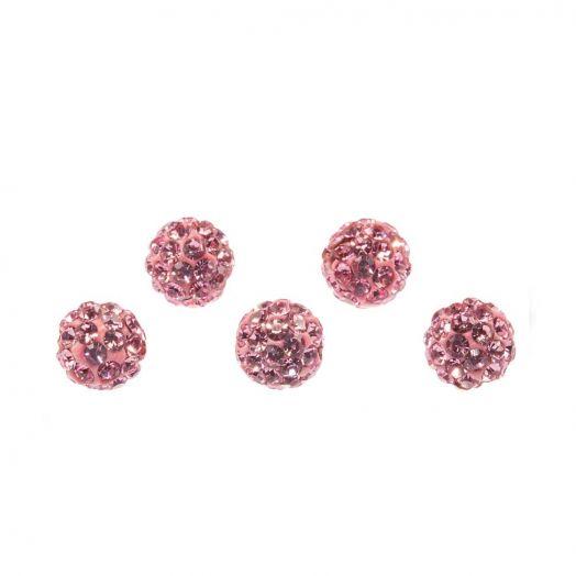 Shamballa Perlen (4 mm) Pink (5 Stück)