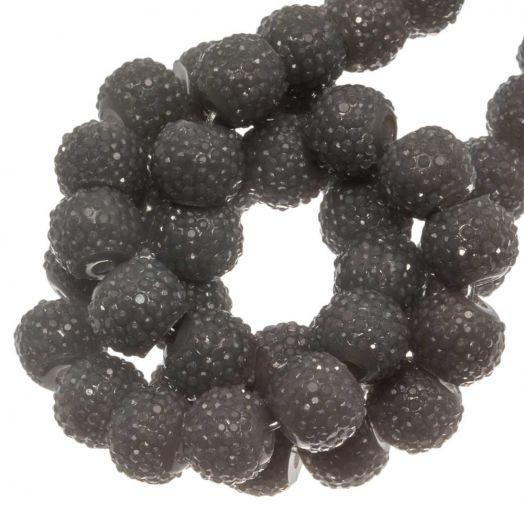 Acryl Perlen Strass (8 mm) Grey (25 Stück)