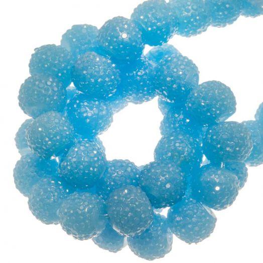 Acryl Perlen Strass (8 mm) Sky Blue (25 Stück)