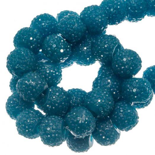 Acryl Perlen Strass (8 mm) Ocean Blue (25 Stück)