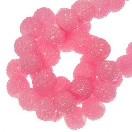 Acryl Perlen Strass (8 mm) Pink (25 Stück)