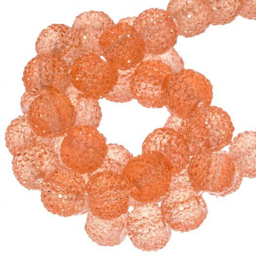 Acryl Perlen Strass (8 mm) Transparent Apricot (25 Stück)