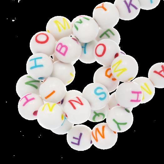 Acryl Buchstabenperlen Mischen (7 x 8 mm) Mix Color (200 Stück)