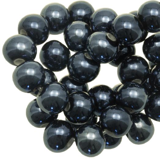 Keramikperlen (8 mm) Petrol (25 Stück)