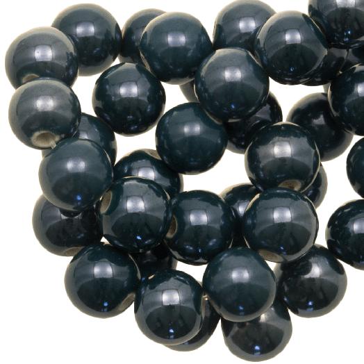 Keramikperlen (10 mm) Petrol (20 Stück)