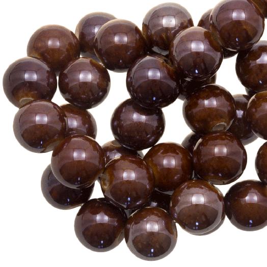 Keramikperlen (10 mm) Natural Brown (20 Stück)