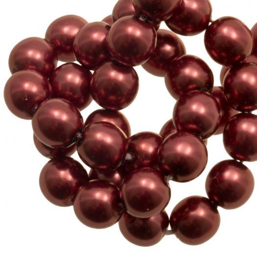 DQ Glaswachsperlen (8 mm) Red Copper Shine (75 Stück)