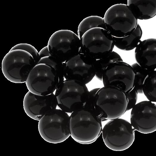 Glaswachsperlen (8 mm) Black (100 Stück)