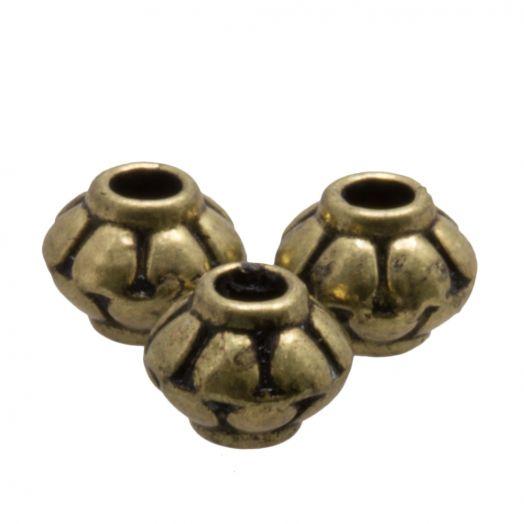 Metallperlen (5 x 4 mm) Bronze (25 Stück)