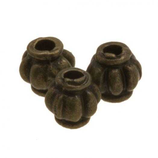 Metallperlen (4 mm) Bronze (25 Stück)