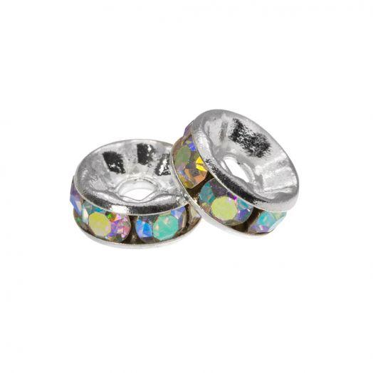 Strasssteinperlen (4 x 2 mm) Clear Crystal (10 Stück)