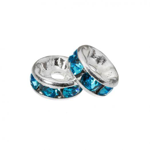 Strasssteinperlen (4 x 2 mm) Blue (10 Stück)