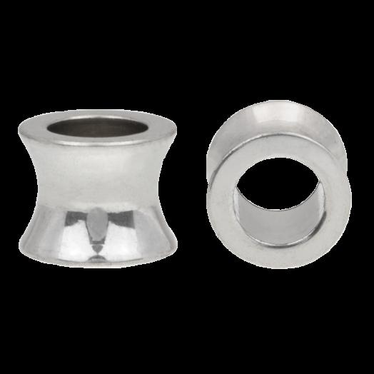 Stainless Steel Perlen Großes Loch (10 x 8 mm) Altsilber (10 Stück)