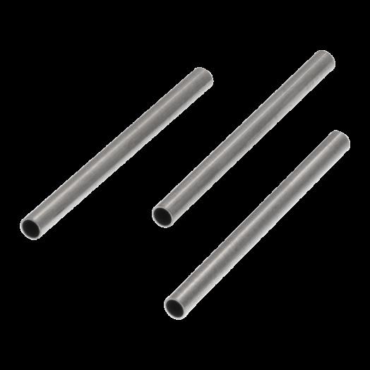 Stainless Steel Röhrchen (20 x 1.5 mm) Altsilber (25 Stück)