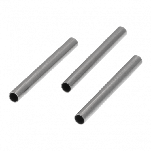 Stainless Steel Röhrchen (15 x 1.5 mm) Altsilber (25 Stück)