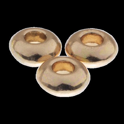 Metallperlen (4 mm) Gold (40 Stück)