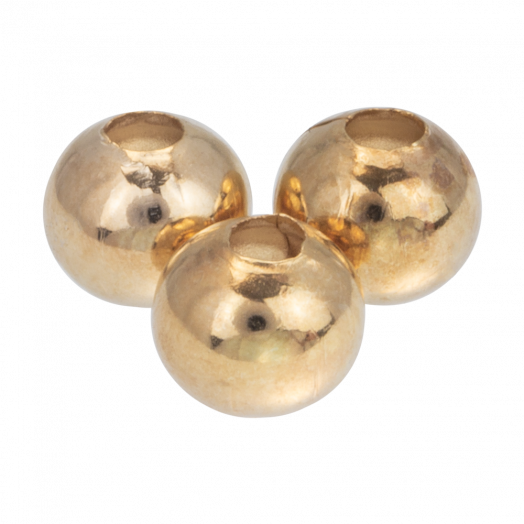 Metallperlen (8 mm) Gold (40 Stück)