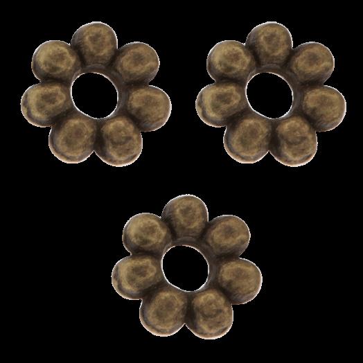 Metallperlen (6 mm) Bronze (40 Stück)