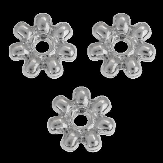 Metallperlen (8 mm) Altsilber (40 Stück)