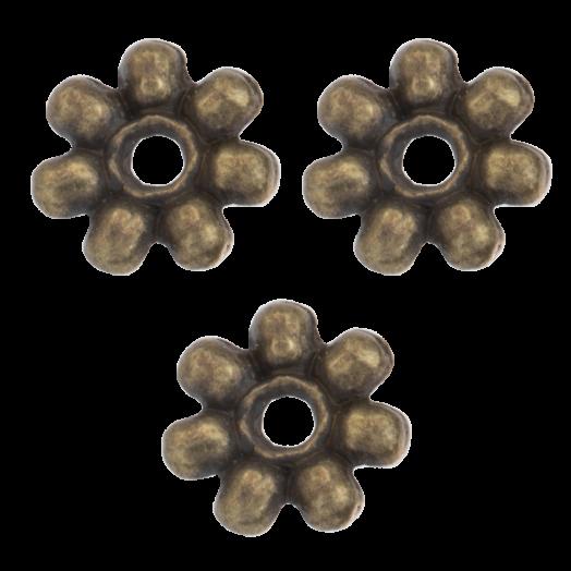 Metallperlen (8 mm) Bronze (40 Stück)
