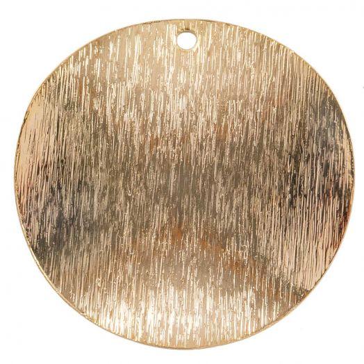 Anhänger (25 mm) Gold (6 Stück)