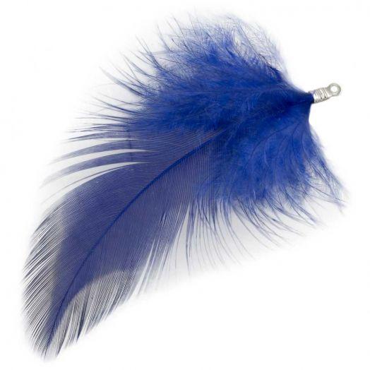 Schmuckfedern (7 cm) Royal Blue (10 Stück)