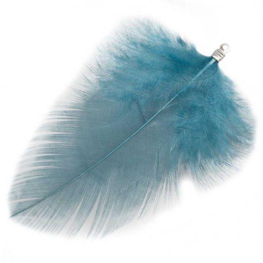 Schmuckfedern (7 cm) Blue Teal (10 Stück)