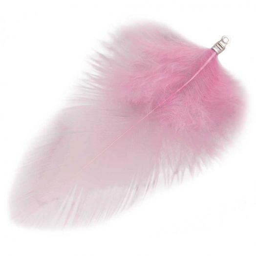 Schmuckfedern (7 cm) Party Pink (10 Stück)
