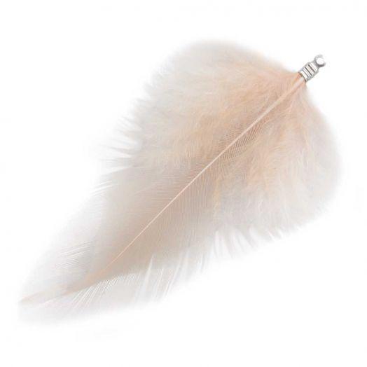 Schmuckfedern (7 cm) Nude (10 Stück)