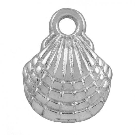 Charm Muschel (13 x 10 mm) Altsilber (25 Stück)