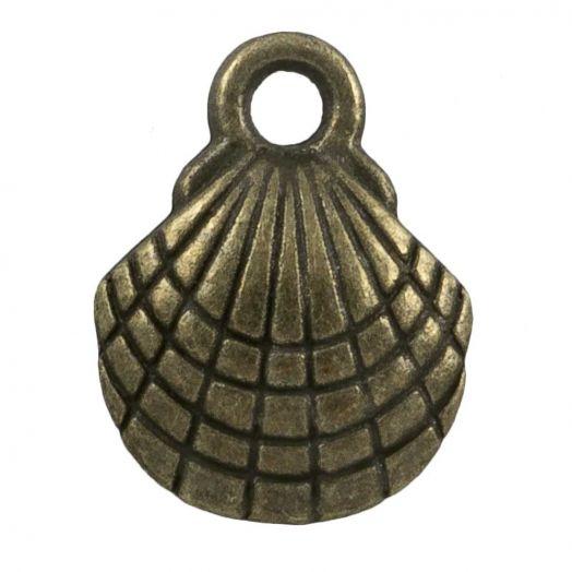 Charm Muschel (13 x 10 mm) Bronze (25 Stück)