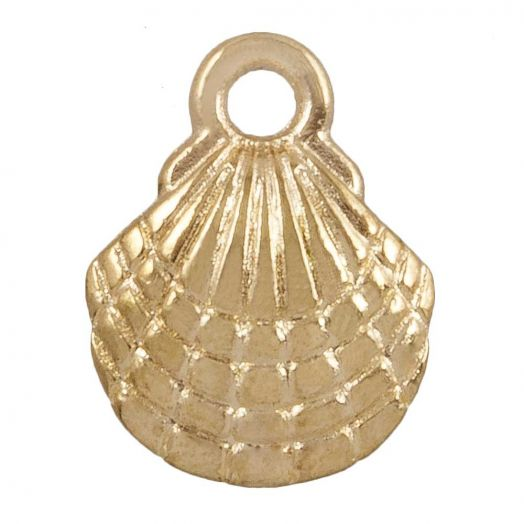 Charm Muschel (13 x 10 mm) Gold (25 Stück)