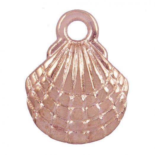 Charm Muschel (13 x 10 mm) Rose Gold (25 Stück)
