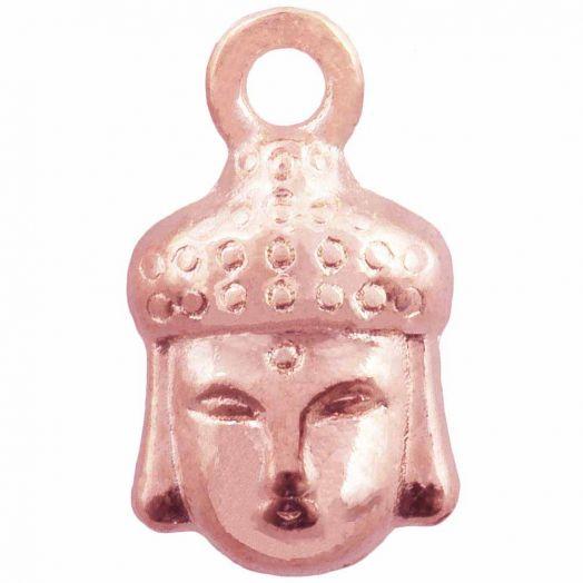 Charm Buddha (14 x 8 mm) Rose Gold (25 Stück)