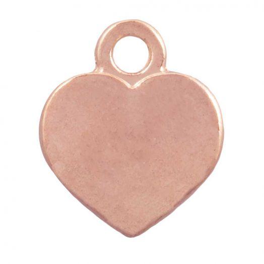 Charm Herz (12 x 10 mm) Rose Gold (25 Stück)