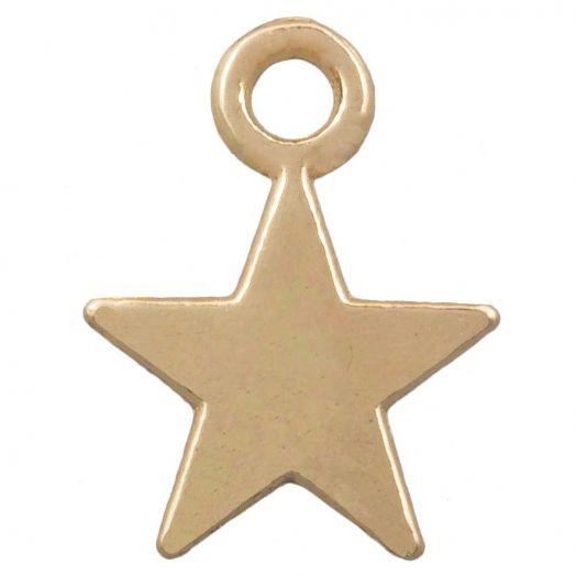 Charm Stern (12 x 9 mm) Gold (25 Stück)