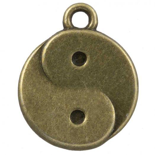 Charm Ying Yang (17 x 13 mm) Bronze (25 Stück)