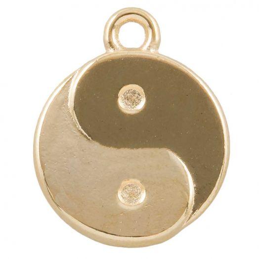 Charm Ying Yang (17 x 13 mm) Gold (25 Stück)