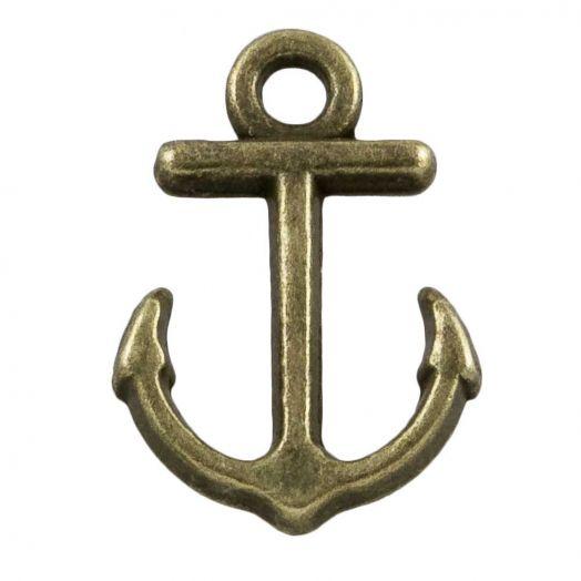Charm Anker (11 x 4 mm) Bronze (25 Stück)