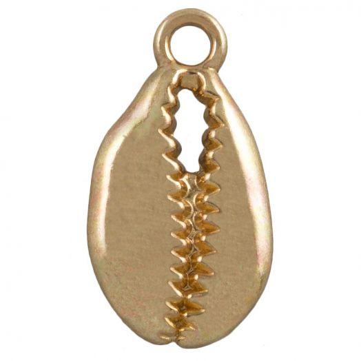 Charm Kauri Muschel (20 x 11 mm) Gold (25 Stück)