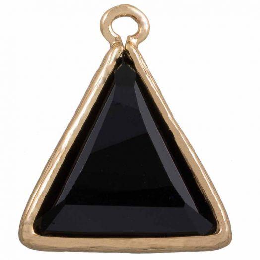 Dreieck Charms (21x 18 mm) Black (2 Stück)