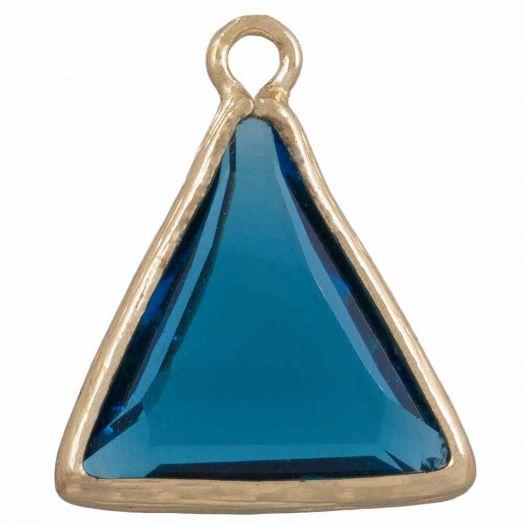 Dreieck Charms (21x 18 mm) Transparent Blue (2 Stück)